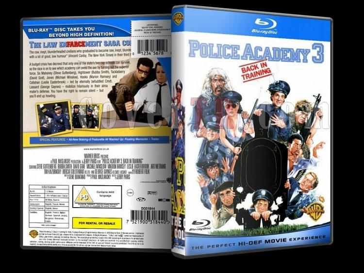 Police Academy (Polis Akademisi) - Custom Dvd Cover - English [1984-1994]-police-academy-bluray-disk-3jpg