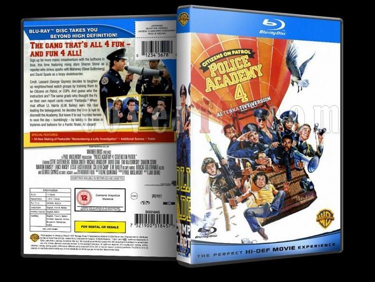 Police Academy (Polis Akademisi) - Custom Dvd Cover - English [1984-1994]-police-academy-bluray-disk-4jpg