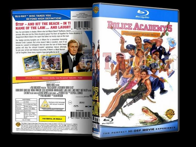 Police Academy (Polis Akademisi) - Custom Dvd Cover - English [1984-1994]-police-academy-bluray-disk-5jpg