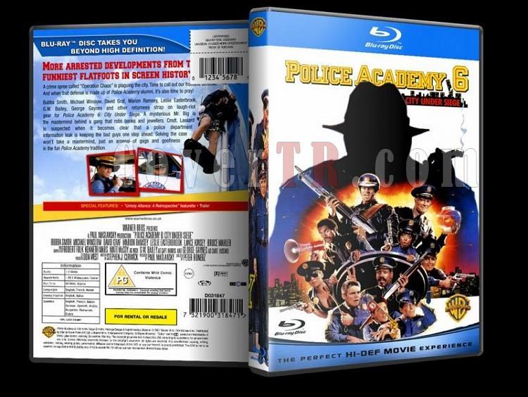 Police Academy (Polis Akademisi) - Custom Dvd Cover - English [1984-1994]-police-academy-bluray-disk-6jpg