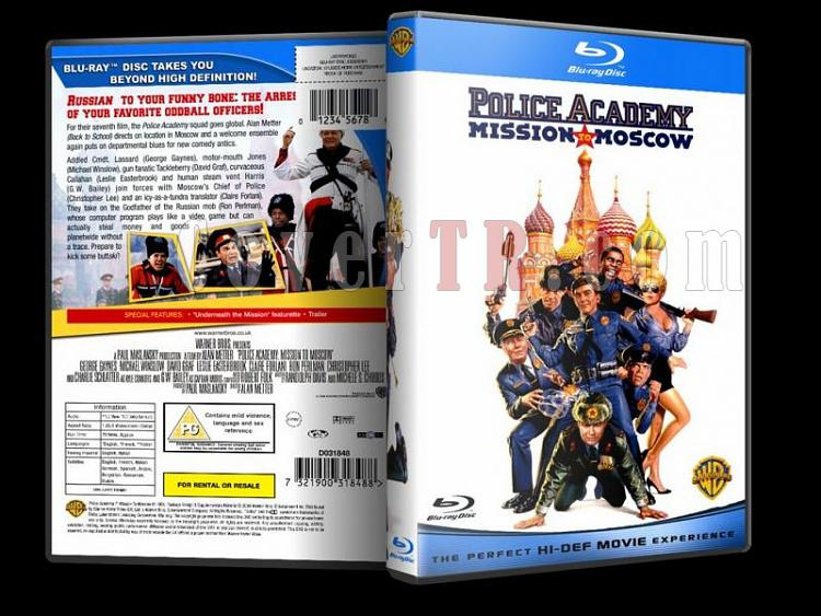 Police Academy (Polis Akademisi) - Custom Dvd Cover - English [1984-1994]-police-academy-bluray-disk-7jpg