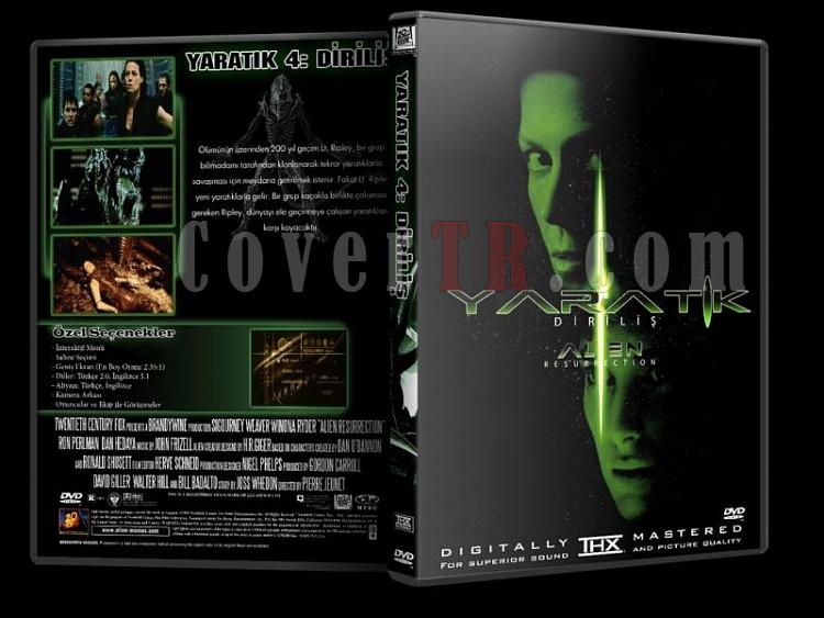 Alien (Yaratık) Collection - Custom Dvd Cover Set - Türkçe [1979-1997]-y4jpg