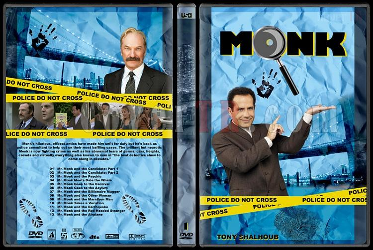 Monk (Seasons 1-8) - Custom Dvd Cover Set - English [2002-2009]-monk-season-1jpg