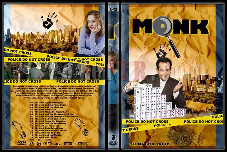 Monk (Seasons 1-8) - Custom Dvd Cover Set - English [2002-2009]-monk-season-3jpg