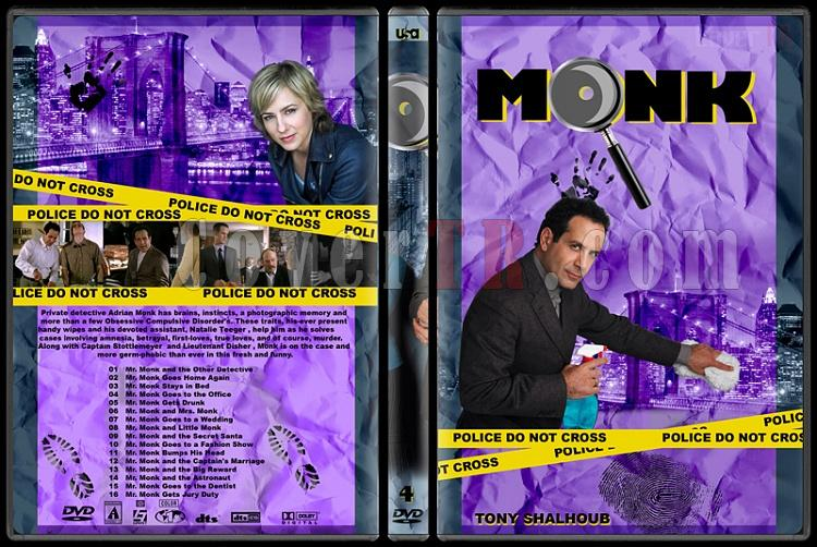 Monk (Seasons 1-8) - Custom Dvd Cover Set - English [2002-2009]-monk-season-4jpg