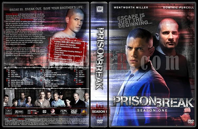 Prison Break (Season 1-4) - Custom Dvd Cover Set - English [2005-2009]-prison-break-season-1-dvd-coverjpg