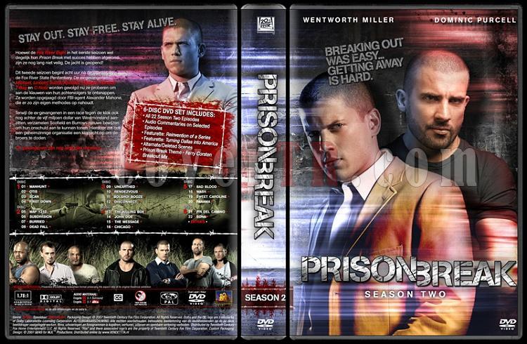 Prison Break (Season 1-4) - Custom Dvd Cover Set - English [2005-2009]-prison-break-season-2-dvd-coverjpg