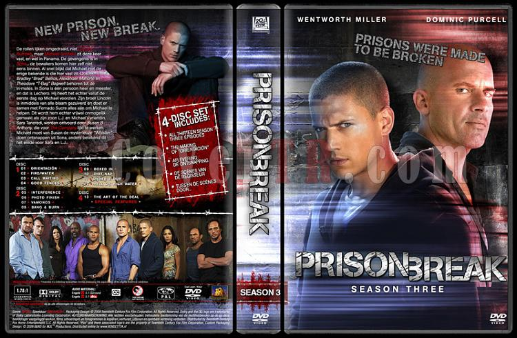 Prison Break (Season 1-4) - Custom Dvd Cover Set - English [2005-2009]-prison-break-season-3-dvd-coverjpg