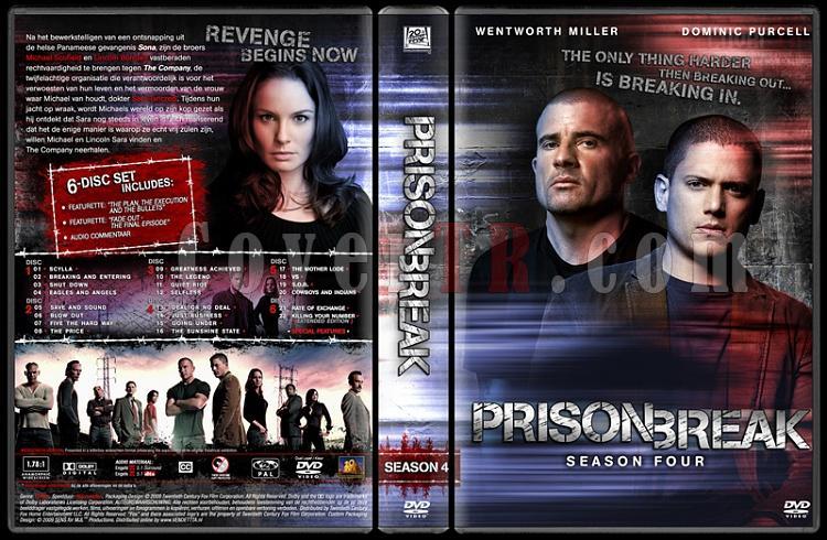 Prison Break (Season 1-4) - Custom Dvd Cover Set - English [2005-2009]-prison-break-season-4-dvd-coverjpg