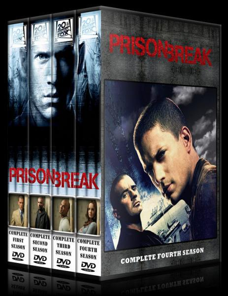 Prison Break (Seasons 1-4) - Custom Dvd Cover Set - English [2005-2009]-11122-2spine4566jpg