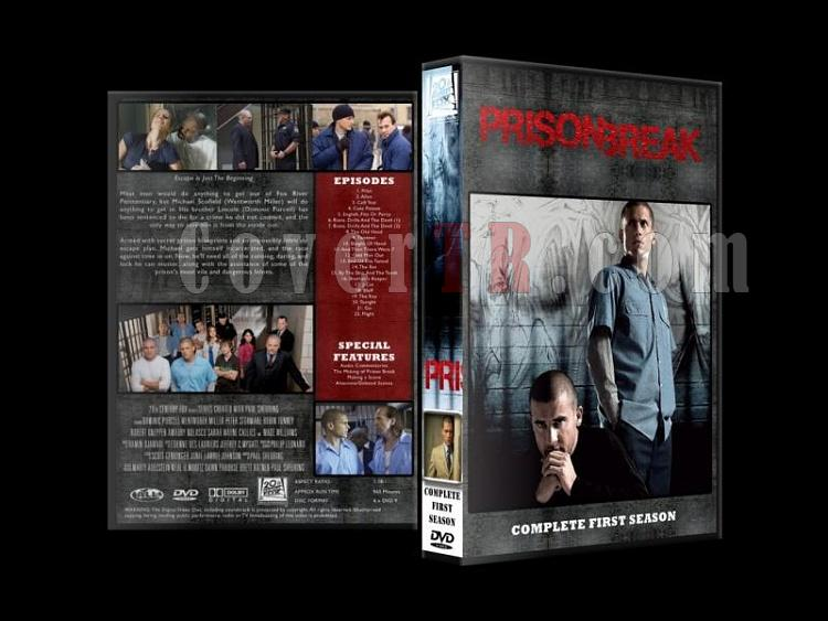 Prison Break (Seasons 1-4) - Custom Dvd Cover Set - English [2005-2009]-prison-break-season-1jpg