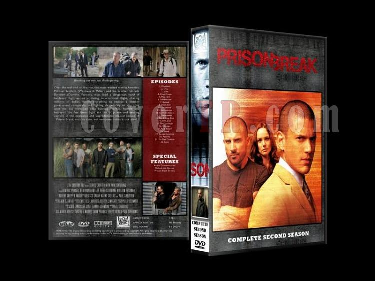 Prison Break (Seasons 1-4) - Custom Dvd Cover Set - English [2005-2009]-prison-break-season-2jpg