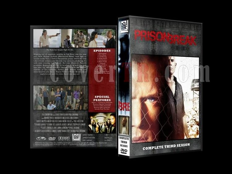 Prison Break (Seasons 1-4) - Custom Dvd Cover Set - English [2005-2009]-prison-break-season-3jpg