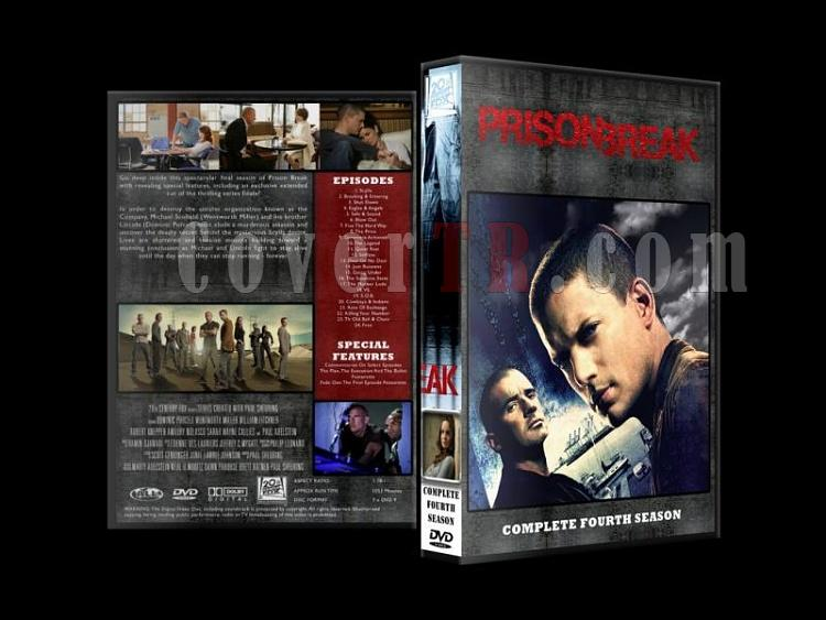 Prison Break (Seasons 1-4) - Custom Dvd Cover Set - English [2005-2009]-prison-break-season-4jpg