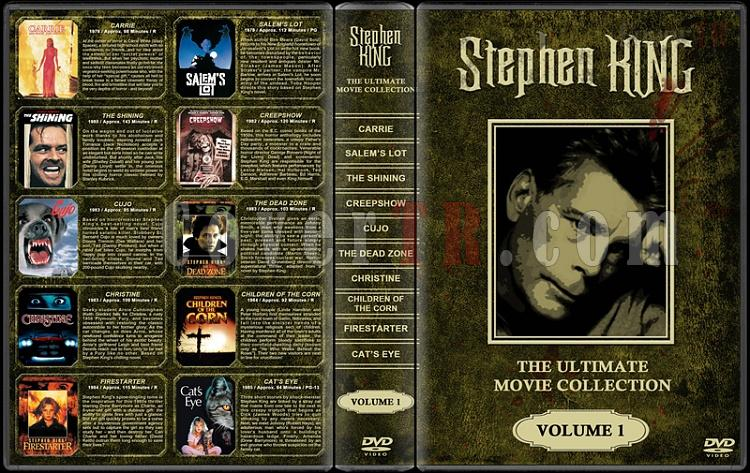 Stephen King (Ultimate Movie Collection) - Custom Dvd Cover Set - English [1976-2011]-stephen-king-ultimate-movie-collection-1jpg