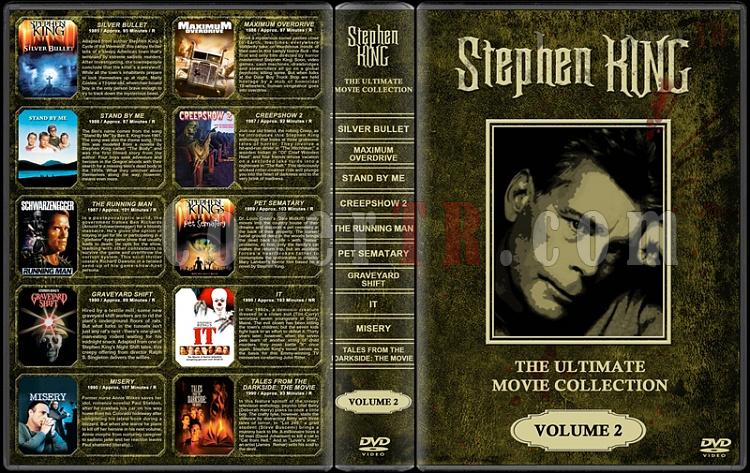 Stephen King (Ultimate Movie Collection) - Custom Dvd Cover Set - English [1976-2011]-stephen-king-ultimate-movie-collection-2jpg