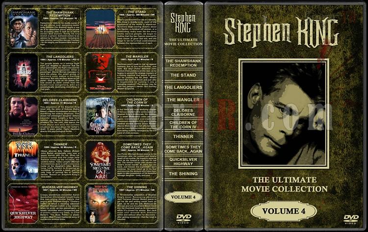 Stephen King (Ultimate Movie Collection) - Custom Dvd Cover Set - English [1976-2011]-stephen-king-ultimate-movie-collection-4jpg