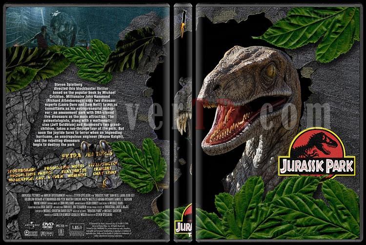 Jurassic Park (Trilogy) - Custom Dvd Cover Set - English [1993-2001]-jurassic-park-1-dvd-coverjpg