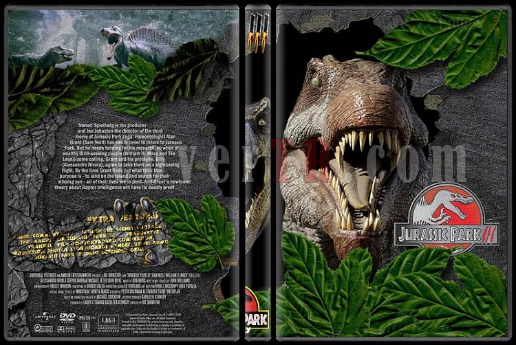 Jurassic Park (Trilogy) - Custom Dvd Cover Set - English