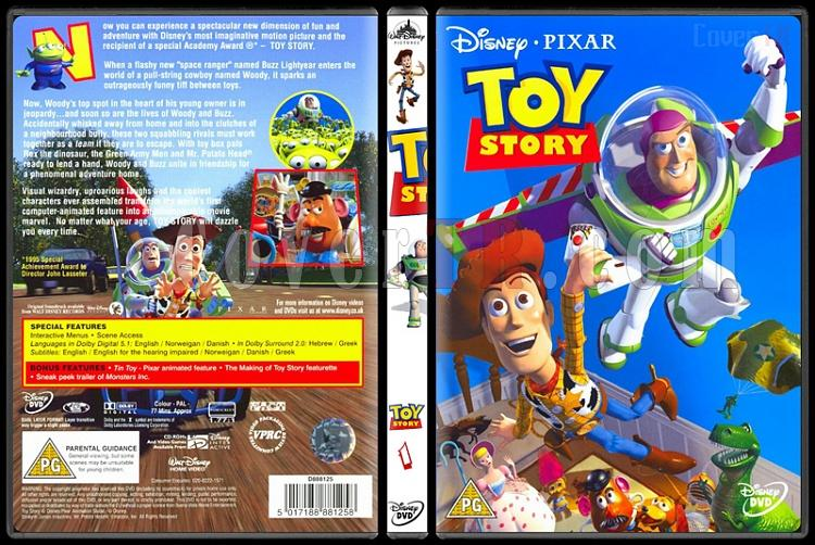 Toy Story (Oyuncak Hikayesi) Trilogy - Custom Dvd Cover Set - English [1995-2010]-1jpg