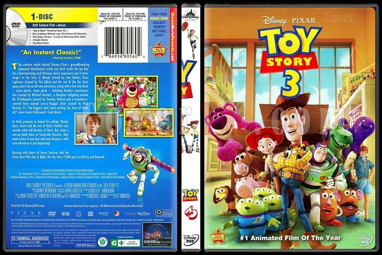 Toy Story (Oyuncak Hikayesi) Trilogy - Custom Dvd Cover Set - English [1995-2010]-3jpg
