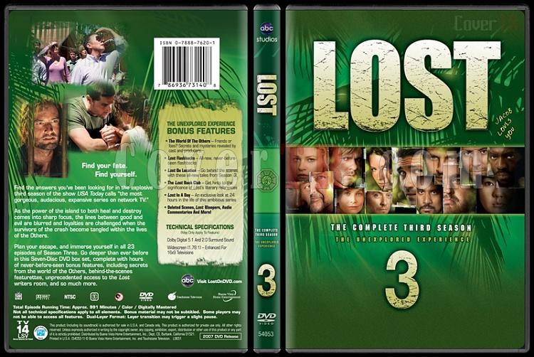 Lost Collection (Seasons 1-6) - Custom Dvd Cover Set - English [2004-2010]-lost-season-3jpg