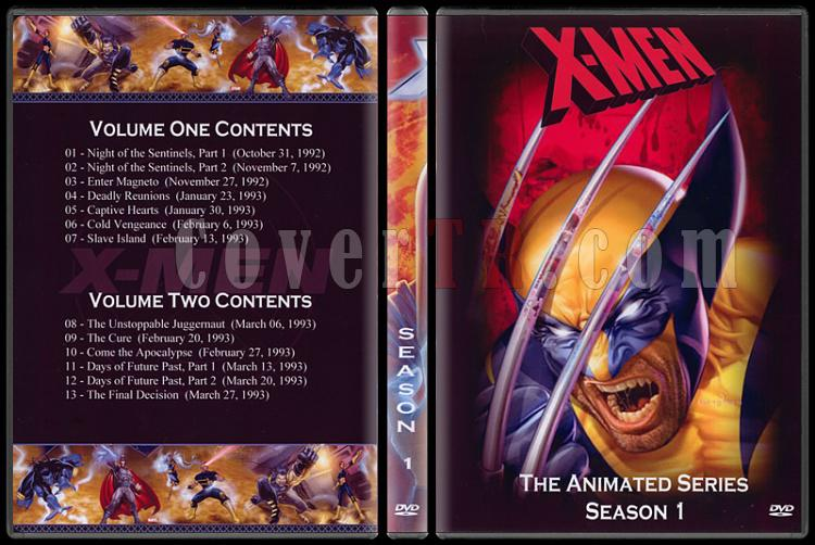 X-Men: The Animated Series (Seasons 1-5) - Custom Dvd Cover Set - English [1992-1997]-1jpg
