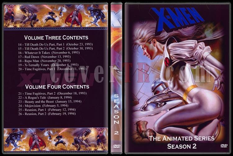 X-Men: The Animated Series (Seasons 1-5) - Custom Dvd Cover Set - English [1992-1997]-2jpg