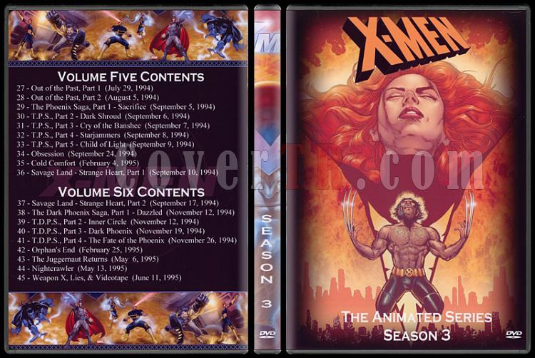 X-Men: The Animated Series (Seasons 1-5) - Custom Dvd Cover Set - English [1992-1997]-3jpg