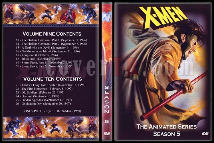 X-Men: The Animated Series (Seasons 1-5) - Custom Dvd Cover Set - English [1992-1997]-5jpg
