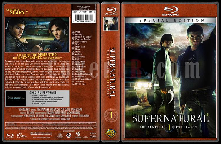 Supernatural (Seasons 1-8) - Custom Bluray Cover Set - English [2005-?]-01jpg