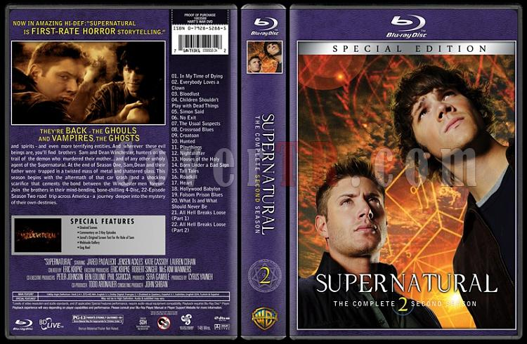 Supernatural (Seasons 1-8) - Custom Bluray Cover Set - English [2005-?]-02jpg
