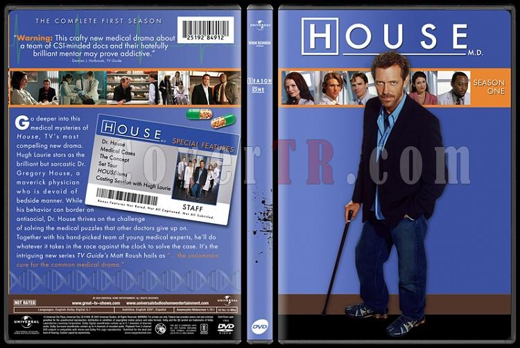 House M.D. Collection (Seasons 1-8) - Custom Dvd Cover Set - English [2004-2012]-standard1jpg