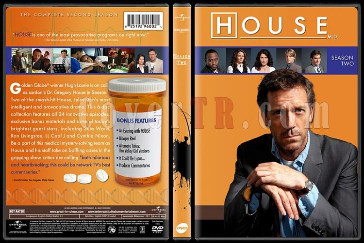 House M.D. Collection (Seasons 1-8) - Custom Dvd Cover Set - English [2004-2012]-standard2jpg