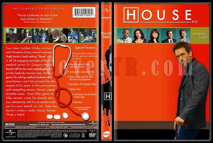 House M.D. Collection (Seasons 1-8) - Custom Dvd Cover Set - English [2004-2012]-standard3jpg