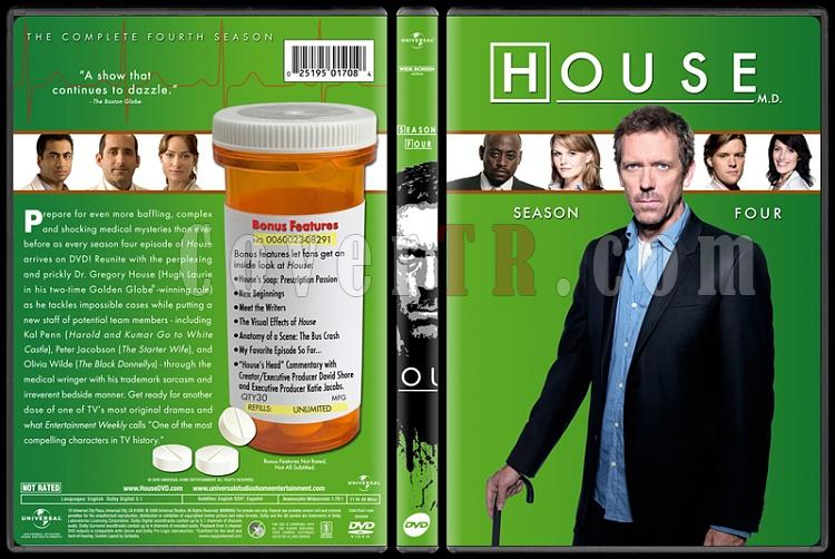 House M.D. Collection (Seasons 1-8) - Custom Dvd Cover Set - English [2004-2012]-standard4jpg
