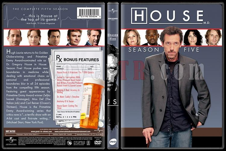 House M.D. Collection (Seasons 1-8) - Custom Dvd Cover Set - English [2004-2012]-standard5jpg