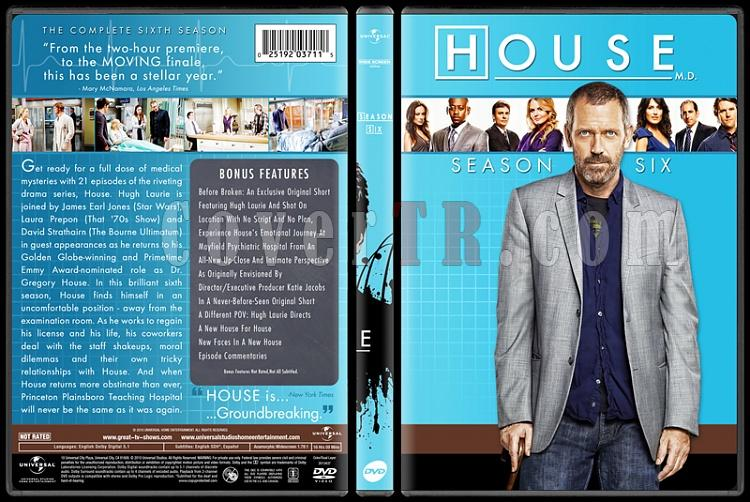 House M.D. Collection (Seasons 1-8) - Custom Dvd Cover Set - English [2004-2012]-standard6jpg
