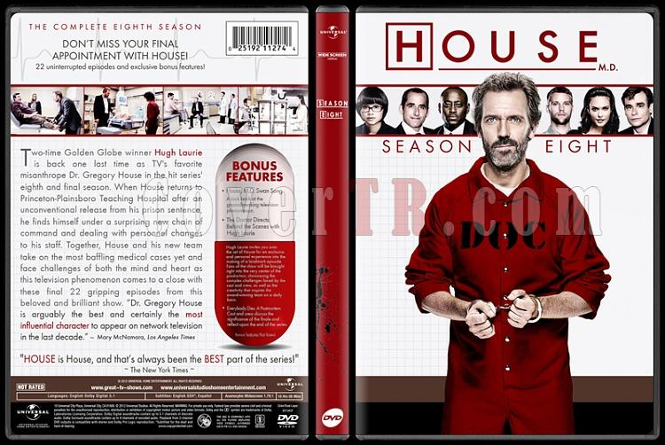 House M.D. Collection (Seasons 1-8) - Custom Dvd Cover Set - English [2004-2012]-standard8jpg