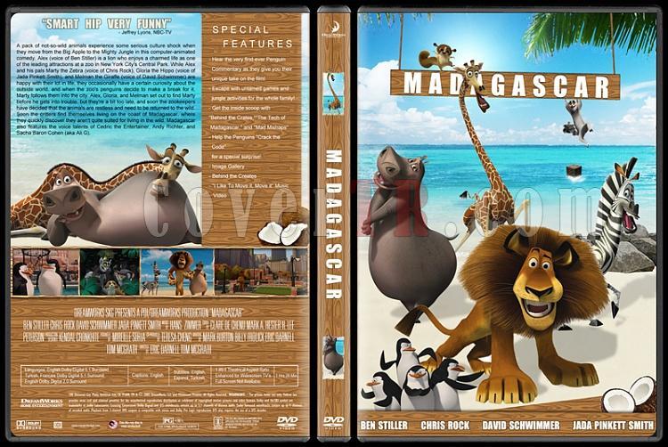 Madagascar Collection (Madagaskar Koleksiyonu) - Custom Dvd Cover Set - English [2005-2008-2012]-1jpg