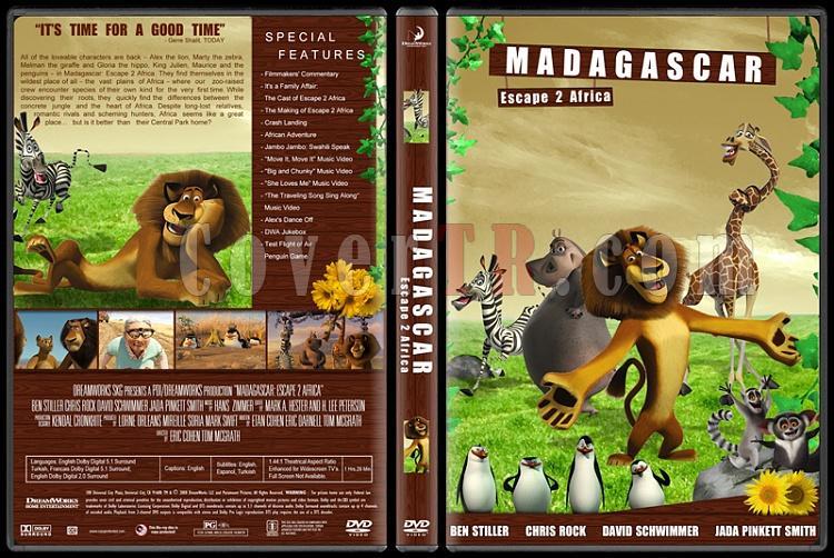 Madagascar Collection (Madagaskar Koleksiyonu) - Custom Dvd Cover Set - English [2005-2008-2012]-2jpg