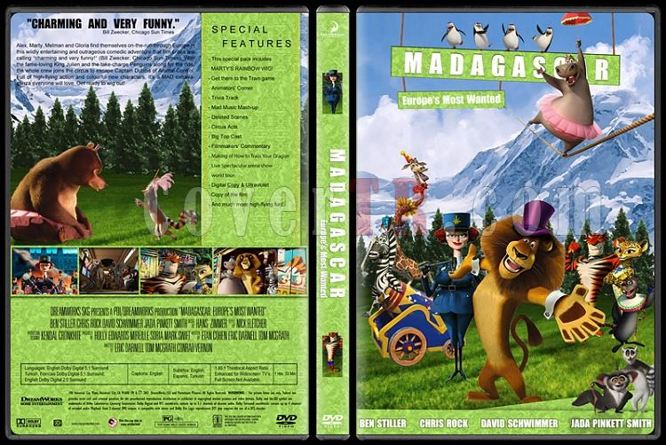 Madagascar Collection (Madagaskar Koleksiyonu) - Custom Dvd Cover Set - English [2005-2008-2012]-3jpg