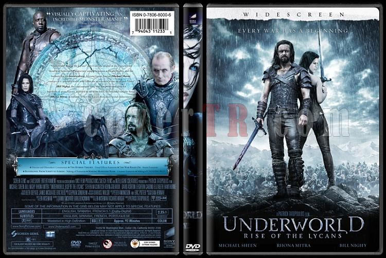 Underworld (Karanlıklar Ülkesi) - Custom Dvd Cover Set - English [2003-2009]-3jpg