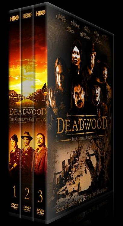 Deadwood (Seasons 1-3) - Custom Dvd Cover Set - English [2004-2006]-setjpg