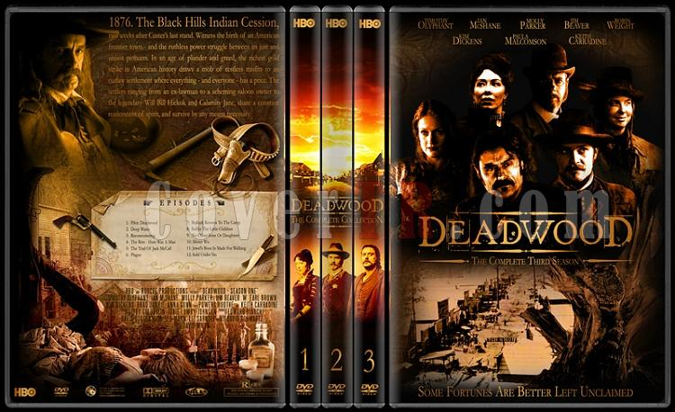 Deadwood (Seasons 1-3) - Custom Dvd Cover Set - English [2004-2006]-standard-3-season-flatjpg