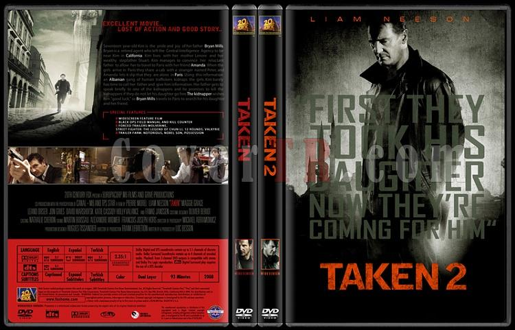 Taken (Duology) - Custom Dvd Cover Set - English [2008-2011]-standard-2-season-flatjpg