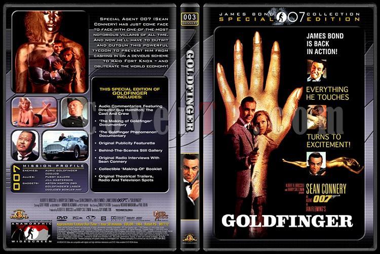 007 James Bond Collection - Custom Dvd Cover Set - English-007-03-goldfingerjpg