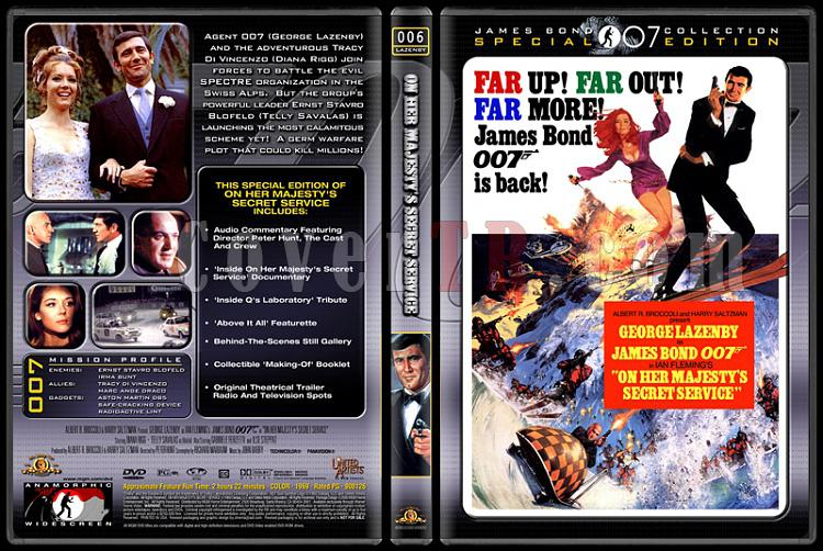007 James Bond Collection - Custom Dvd Cover Set - English-007-06-her-majestys-secret-servicejpg