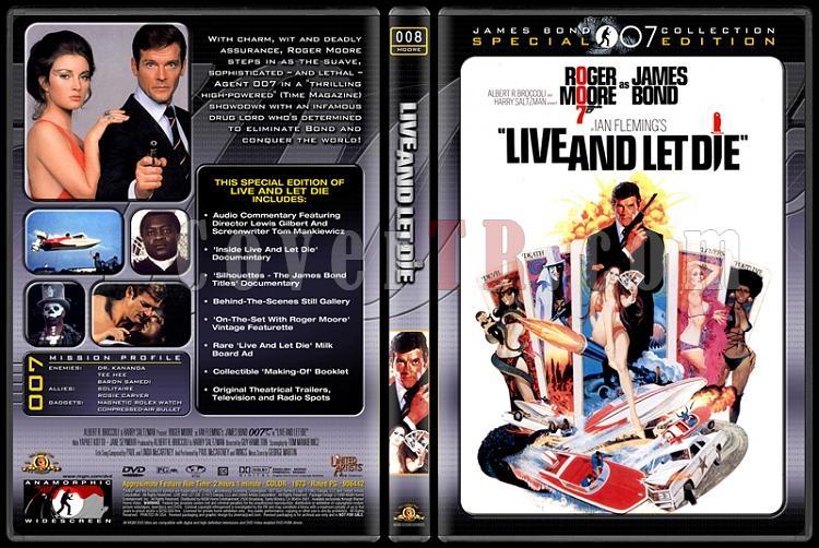 007 James Bond Collection - Custom Dvd Cover Set - English-007-08-live-let-diejpg
