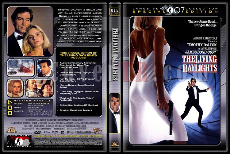007 James Bond Collection - Custom Dvd Cover Set - English-007-15-living-daylightsjpg